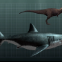 they-were-much-larger-than-tyrannosaurus-rex-megalodons-weighed-up-to-100-tons-while-t-rex-weighed-a-puny-9-tons
